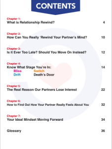 Relationship Rewind Review Contents